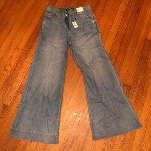 Express high rise, wide leg jeans